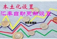 本土化设置和货币汇率自动更新应用于自建站货卖全球